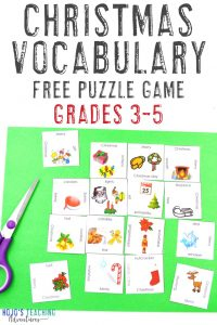 Click to grab this Christmas Vocabulary Puzzle for 3rd, 4th, and 5th grade!