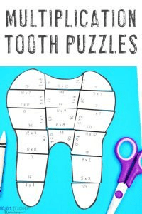 Click to get your own MULTIPLICATION Dental Health Month Activities!
