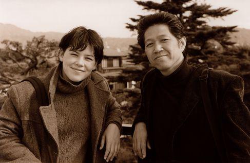 セヴァン・スズキと中村隆市(2002年11月 京都)