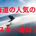 北海道のスキー場おすすめや人気はどこ?一番大きいところは?