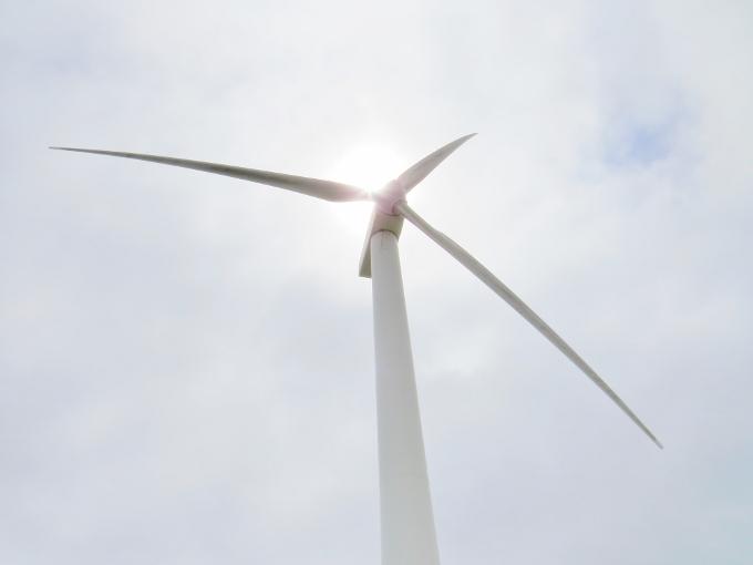 大沼近くの風力発電