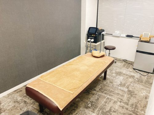 ふーも札幌店の施術室