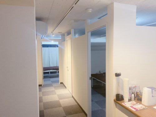 さっぽろ美容クリニックの大通院の廊下