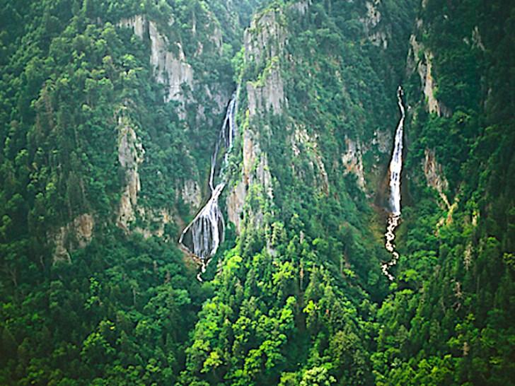 流星の滝・銀河の滝