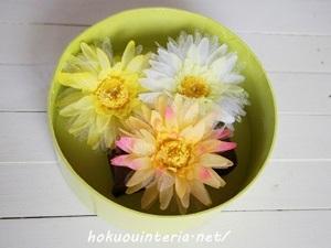 造花のガーベラで作るボックスアレンジ