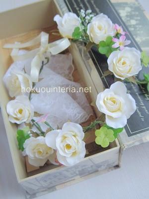 白の花かんむり作り方