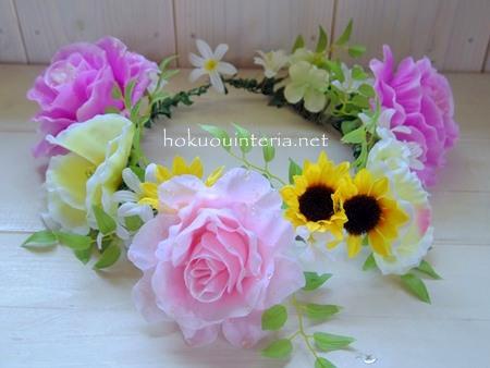 ハイビスカスの花かんむり