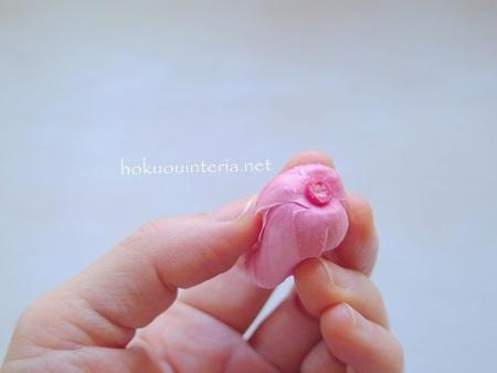 ピンクの花かんむり作り方