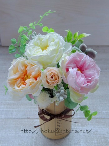 100均造花をお部屋のインテリアに飾る