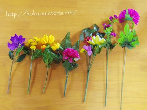 100均の花でお墓の花を作るIMGP4108-001