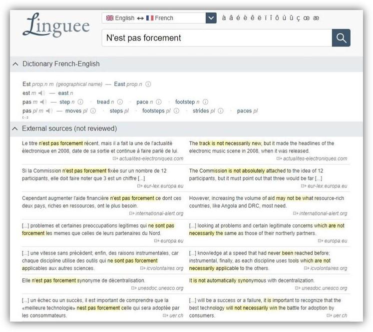 外語學習:linguee