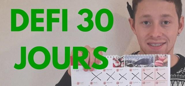 Le défi 30 jours