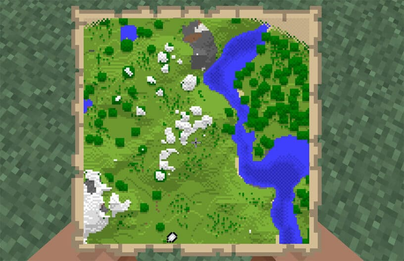 How to Make a Map Wall in Minecraft