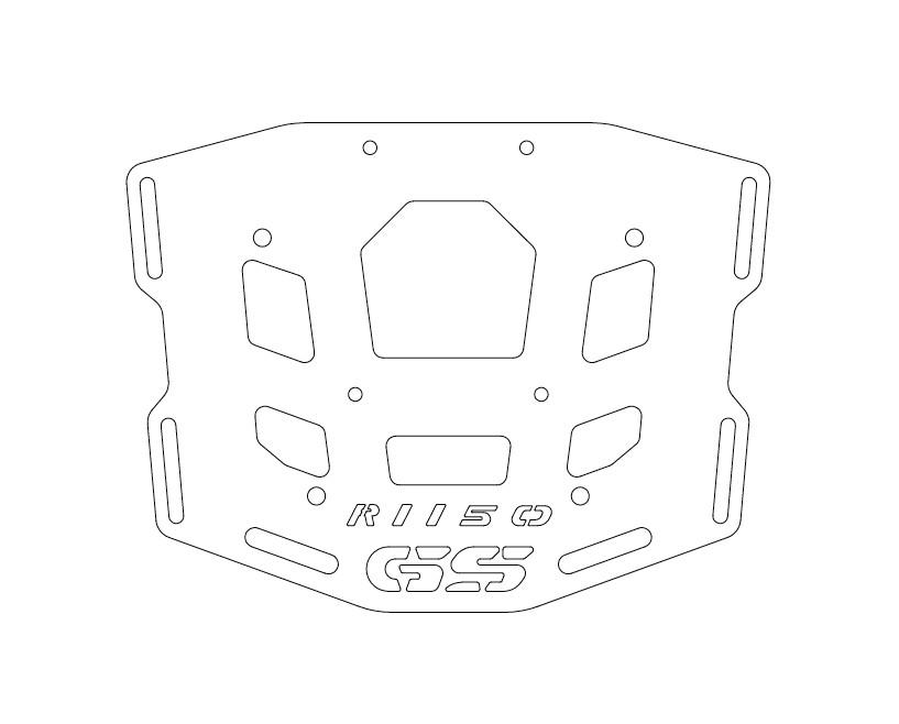 ALU Top-case brackets for R1150GS