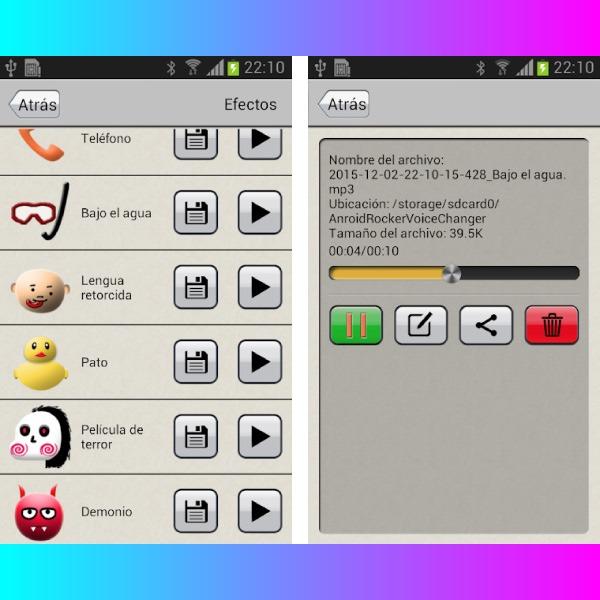 Modificador voz audios WhatsApp