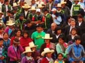 Menschenmenge in Cajamarca