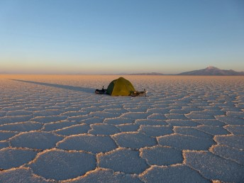 erste Sonnenstrahlen, Salar de Uyuni