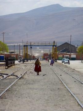 Bahnlinie, unser Weg aus Uyuni