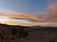 Campspot mit Blick über den Salar de Chiguana