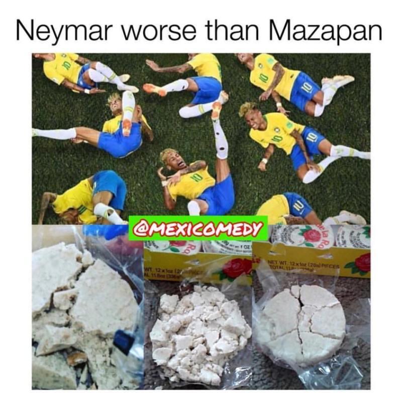 Neymar worse than mazapan