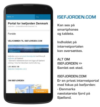 Isefjorden.com kan ses på smartphones og tablets