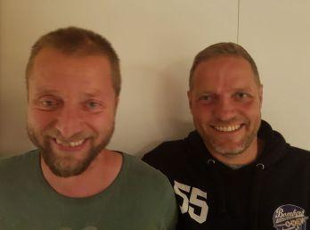 Thomas Lentz (tv) fortsætter på U11-holdet, mens Andreas Schilling er ny træner