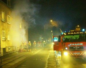 Brand i lejlighed på Munkholmvej nr. 33. Foto: Rolf Larsen