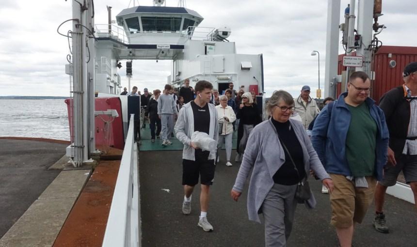 Passagerer med færgen