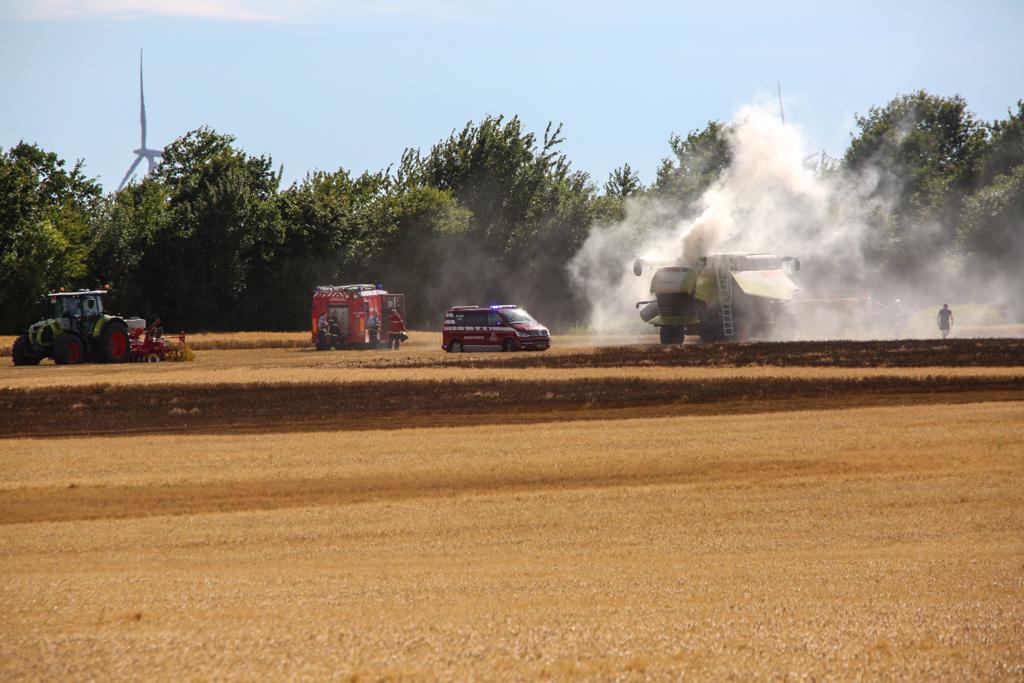 Brand i mejetærsker ved Gislingegaard