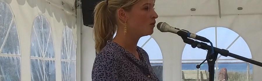 Borgmester Christina K. Hansen holdt tale ved Socialdemokratiets træf på Orø. Foto: Jesper von Staffeldt.