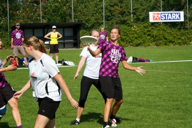 Eliten inden for Ultimate Frisbee er samlet i Holbæk til DM i denne weekend. Foto: Michael Johannessen.
