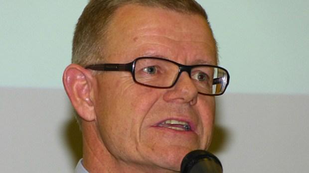 Liberal Alliances Kenny Jensby peger på Søren Kjærsgaard som borgmester - hvis der er liberal politik i konstitueringsaftalen. Arkivfoto: Jesper von Staffeldt.