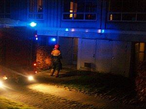 Røg i opgang til Ladegårdsparken 87. Foto: Rolf Larsen