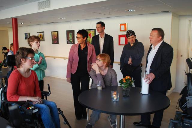Lars Løkke Rasmussen på besøg hos Kildehaven. PR Foto.