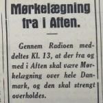Notits fra Holbæk Amts Socialdemokrat, 9. april 1940.