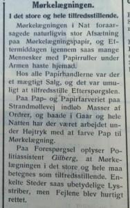 Fra Holbæk Amts Socialdemokrat, 10. april 1940.