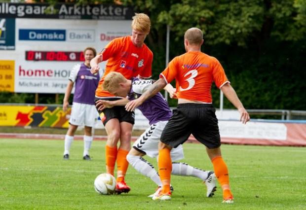 I aften møder Nordvets FC  topholdet FC Helsingør i 3. runde af DBU Pokalen. Arkivfoto: Michael Johannessen.