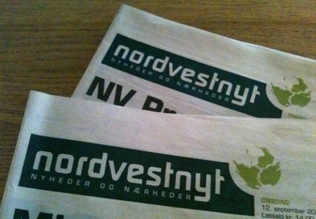 Sjællandske Mediers dagblad Nordvestnyt er forsinket oplyser avisen. Arkivfoto: Rolf Larsen.