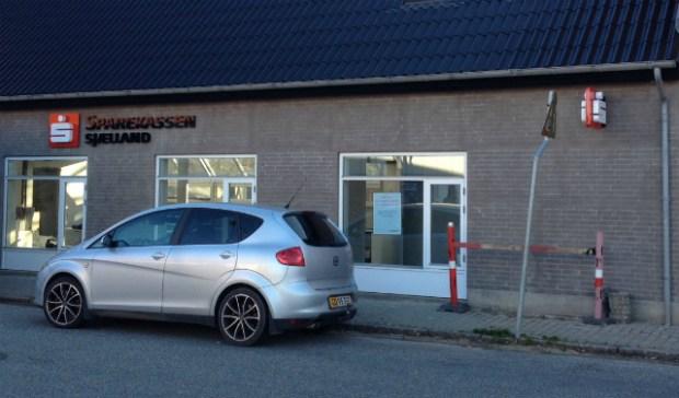 Sparekassen Sjælland flytter ind i nye lokaler på Skarridsøgade i Jyderup. PR foto.