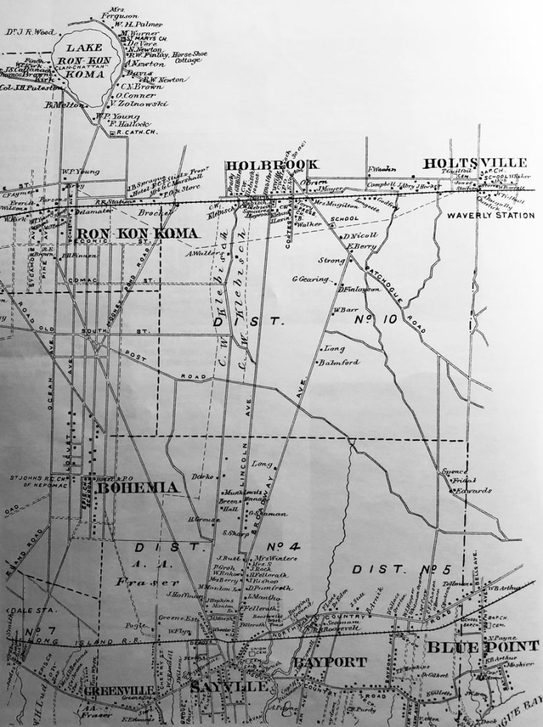 old Holbrook, NY map