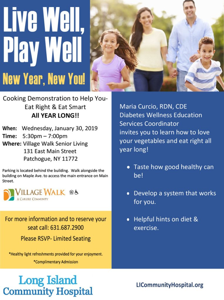Live Well, Play Well: New Year, New You!