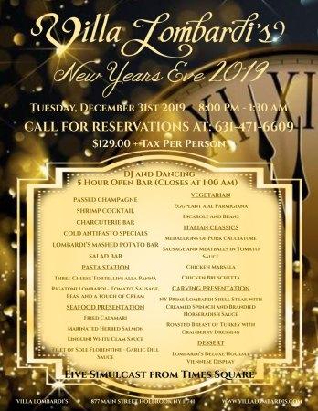 New Years Eve Party at Villa Lombardi's @ Villa Lombardi's | Holbrook | New York | United States