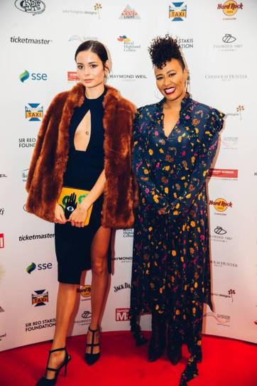 Nina Nesbitt and Emeli Sande at SSE Scottish Music Awards