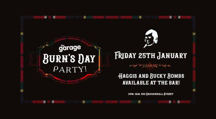 Burns Day Party at The Garage