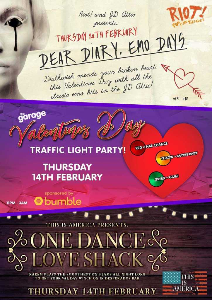 Hold Fast Entertainment Events - Valentines Day at The Garage