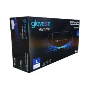 black nitrile gloves large