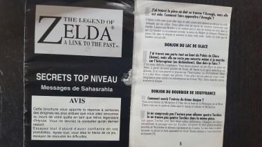 Zelda Super Nintendo notice