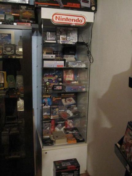 nintendo, vitrines rétro, jeux rétro, collection retrogaming, nes, gameboy