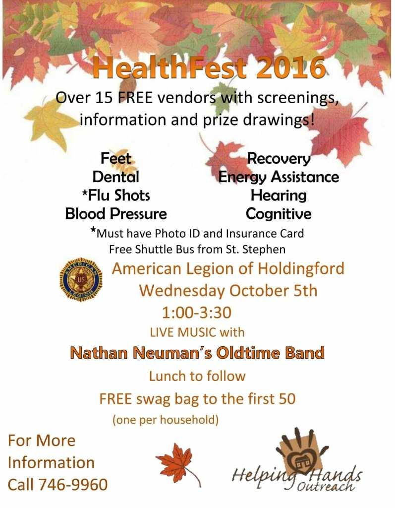 flyer for health fest 2016 smaller