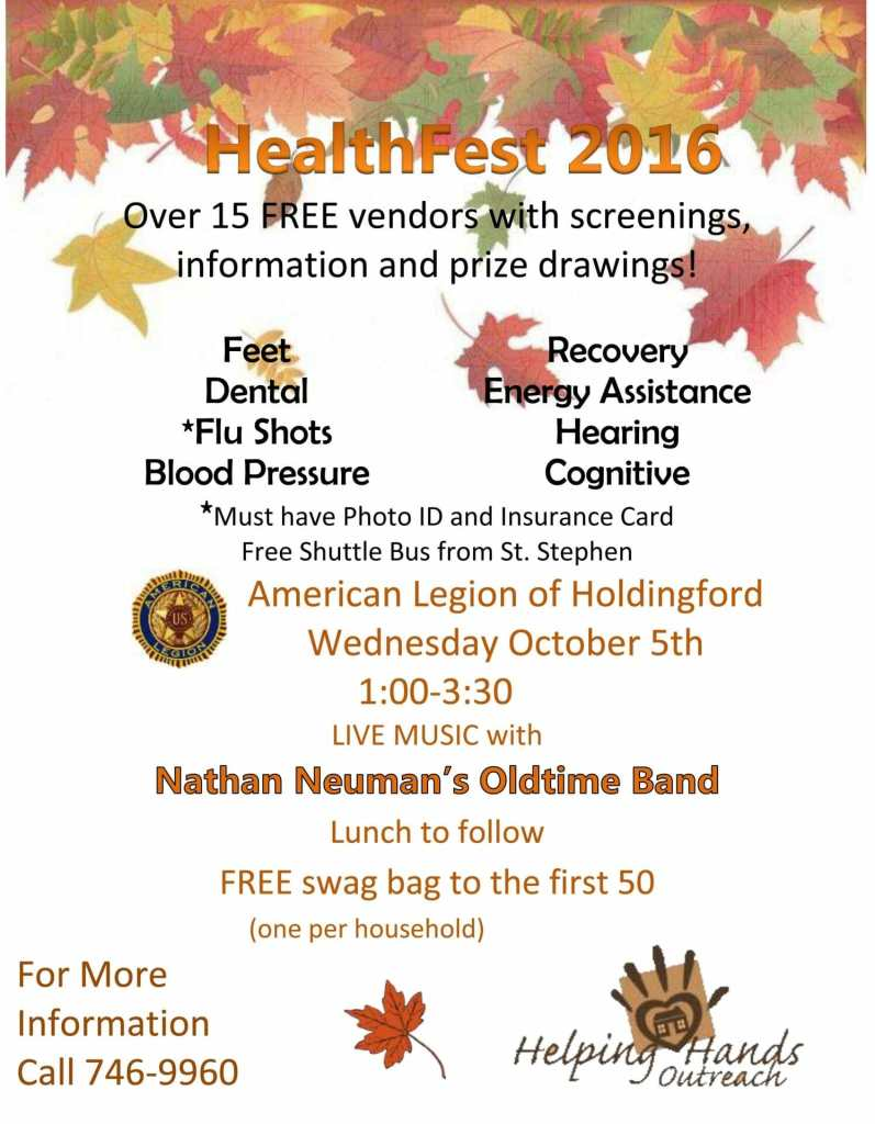 flyer for health fest 2016 smaller